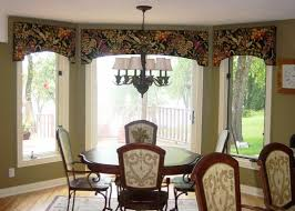 kitchen bay door cornice window treatments kitchen bay window