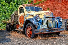 rusty car photography automotive
