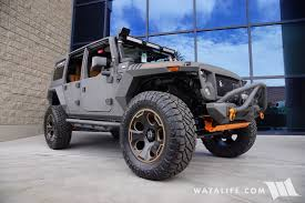 jeep wrangler grey 2016 sema starwood custom gray orange jeep jk wrangler unlimited