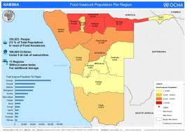 Namibia Map Namibia Hundreds Of Thousands Affected By Drought Ocha