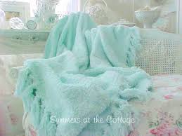 Shabby Chic Blue Bedding by Romantic Homes Shabby Chic Vintage Chenille Bedspread Shabby Chic