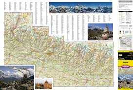 Show Me A Map Of Nepal by Nepal National Geographic Adventure Map National Geographic