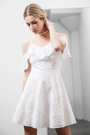 cold shoulder wedding dress cold shoulder fit and flare lace dress j o a