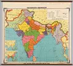 India Political Map India And Southwest Asia Political David Rumsey Historical