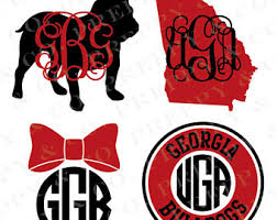uga alumni sticker southern vinyl decal monogram gsu sticker