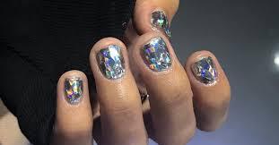 diamond nail art is the latest k beauty trend teen vogue