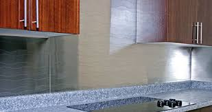 stainless steel backsplashes for kitchens a stainless steel backsplash adds a contemporary feel to any