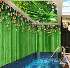 3d bamboo wall flower top ceiling entire living room wallpaper 3d bamboo wall flower top ceiling entire living room wallpaper wall mural art idcqw 000182