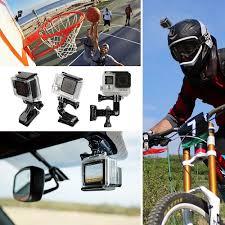 motocross helmet camera hsu grab bag of mounts for gopro including quick release buckle