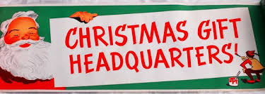 Modern Furniture Buffalo Ny by 1950s Christmas Gifts Headquarters Store Display Banner With
