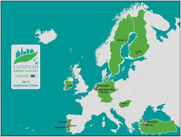 Map Of Europe Capitals by European Green Capital