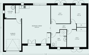 plan maison plain pied 3 chambres en l plan maison plain pied 110m2 fresh plan maison plain pied 100m2 3