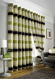 Green And Brown Curtains Lime Brown Pair Of Eyelet Taffeta Curtains 90 Drop Co