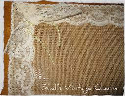shabby chic lace and burlap placemats by shellsvintagecharm baby