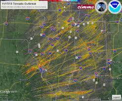 Ohio Weather Radar Map by November 17 2013 Tornado Outbreak