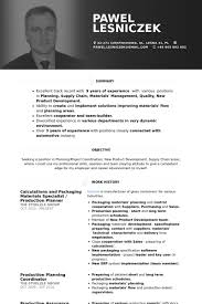 Demand Planner Resume Sample by Production Planner Resume Samples Visualcv Resume Samples Database