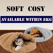 Self Warming Pet Bed Washable Pet Self Warming Sleeping Bag Snuggle Sack Bed Cuddly