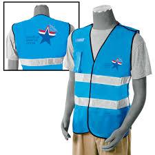 Light Blue Vest Safety Vest 5 Point Breakaway Blue Mrc Logo Propac Usa