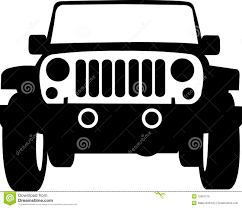 jeep clip art jeep truck outline stock vector image of isolated jeep 12991275