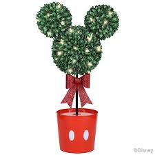 mickey mouse lighted led topiary tree