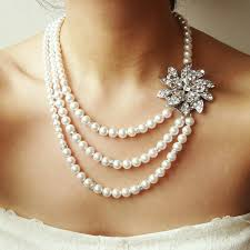 pearl bridal necklace images Bridal necklace art deco wedding necklace statement bridal jpg