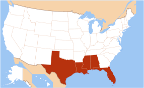 map us mexico border states gulf coast of the united states