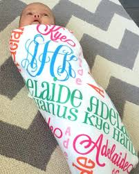 monogram baby items personalized receiving baby blankets tagitfor me