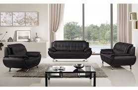 Black Leather Sofa Set Hendrix Black Leather Modern Sofa Set