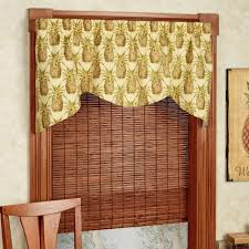 pineapple grove shaped window valance