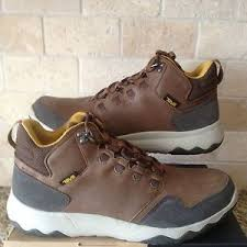 s lightweight hiking boots size 12 teva arrowood mid wp brown leather trail hiking boots shoes