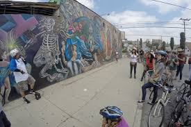 si e de mural boyle heights beat bicyclists highlight the murals and history of