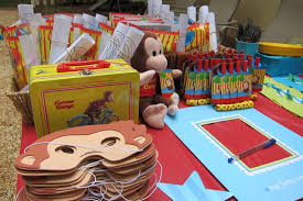 Nice Party Sets Decorations Curious George Party Favors Simple