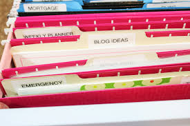 Folders For Filing Cabinet Reorganizing Home Office Files