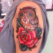 with owl design tattoos tattoos