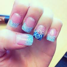 sparkle and blue gel nails nail designs pinterest blue gel