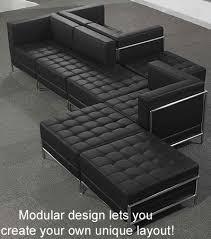 Zig Zag Floor L Tufted Modular 5 Seat Zig Zag Sofa