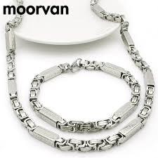 bracelet sets moorvan necklace bracelet set men byzantine key chain