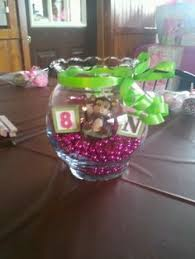 Baby Monkey Centerpieces by Diy Center Pieces I Made For My Sisters Babyshower Buckets And