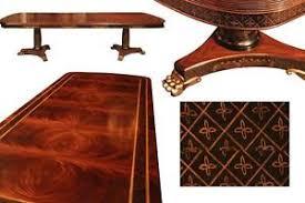Mahogany Dining Table Mahogany Dining Table With Brass Lion Paw Feet Black U0026 Gold