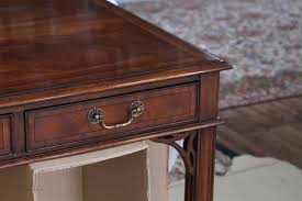 Desk Measurements by Antique Style Mahogany Writing Desk Higher End Reproduction