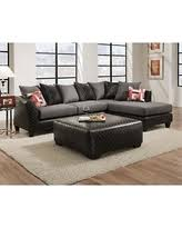 Black Microfiber Sectional Sofa Amazing Shopping Savings Roundhill Furniture Shimmer Pewter