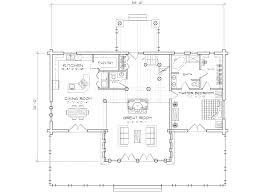 pinegrove log cabin home floor plan