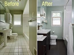 architectures small bathroom remodeling idea dark wooden floor