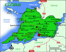 map of county of county clare