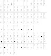 Map Symbols Map Symbols Regular Truetype Font