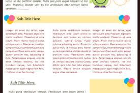 preschool newsletter template archives sample templates