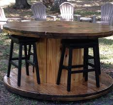 Cable Reel Table by Re Purposed Wire Spool Table Hand Sanded Smooth Multiple Coats