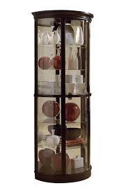 Curio Cabinet Corner Curio Cabinet Impressive Cherry Wood Curio Cabinets Pictures