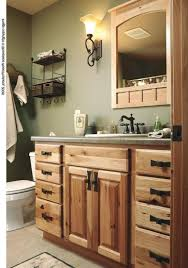 Bath Vanity With Makeup Table by Inspiring Hickory Bathroom Vanity Design