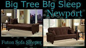 newport futon sofa sleeper assembly from big tree big sleep youtube